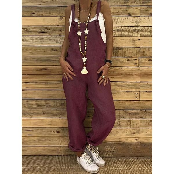 Casual Looses Cotton&Linen Jumpsuit