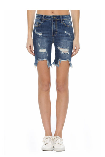 Cello distressed Bermuda shorts