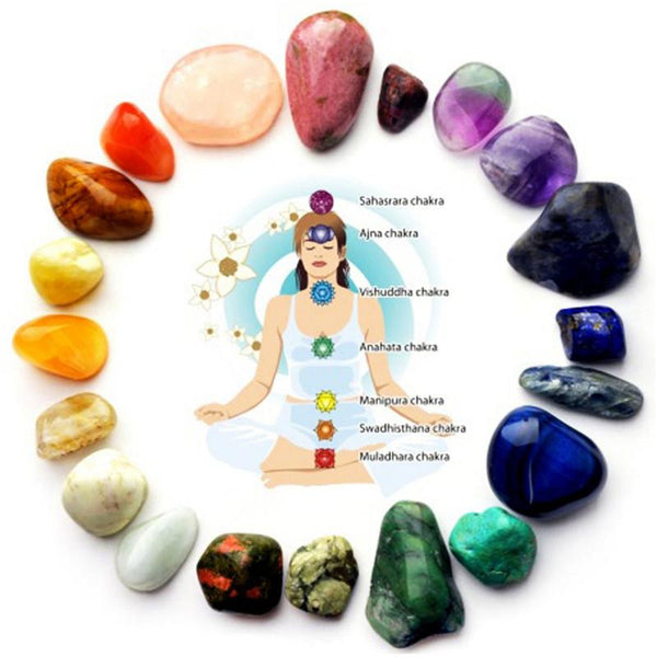 Natural 7 Colors Yoga Energy Stone Chakra Stone
