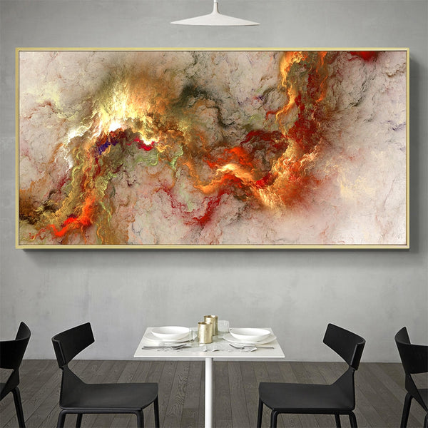 Canvas Wall Art Landscape Abstract Cloud Painting