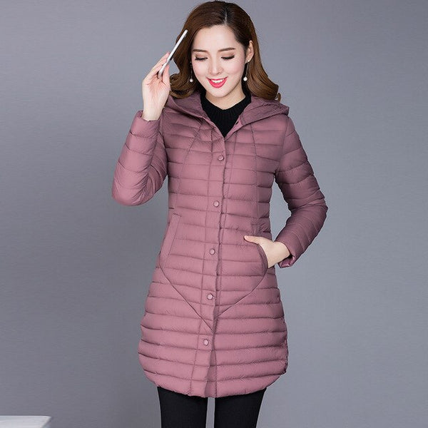 Winter Autumn Women Cotton New Slim Coat