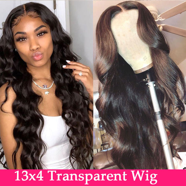 HD Transparent Lace Frontal Brazilian Wig