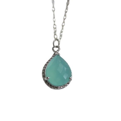 Mint Pendant Necklace (Silver)