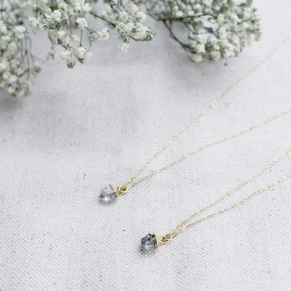 Herkimer Diamond Gemstone Necklace