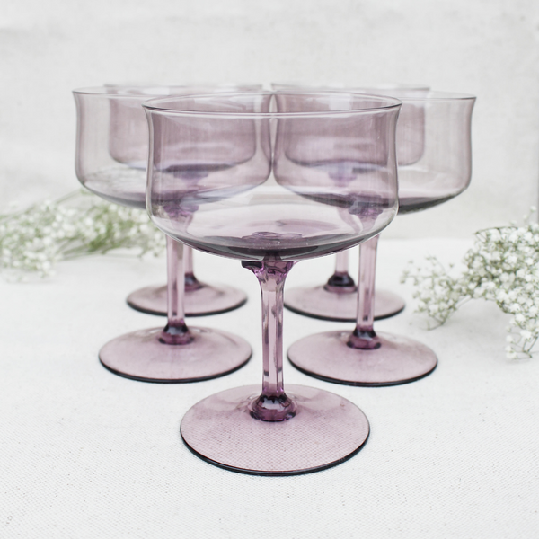 Vintage Coupe Glasses (Set of 5)