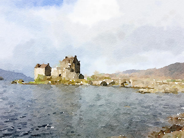 Eilean Donan Castle from Afar Wall Art Print
