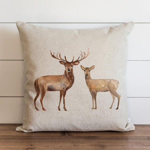 Stag and Doe Pillow