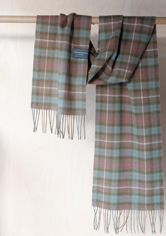 Lambswool Scarf in Fraser Hunting Weathered Tartan
