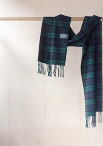 Lambswool Scarf in Black Watch Tartan