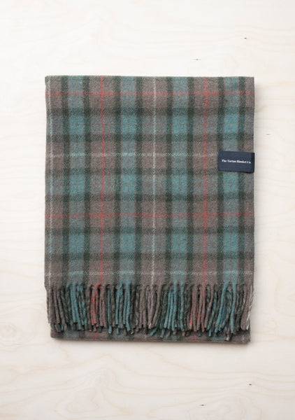 Recycled Wool Knee Blanket in Fraser Hunting Weathered Tartan