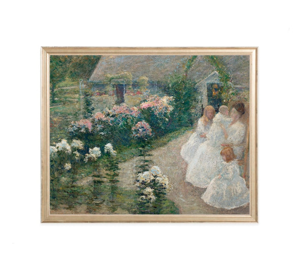 Terrace Garden Wall Art Print
