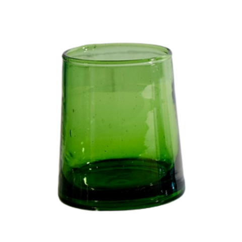 Moroccan Small Glass - Green (Set of 6)