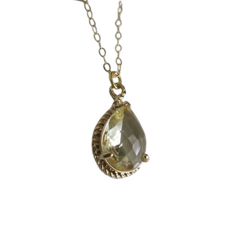 Citrine Teardrop Necklace