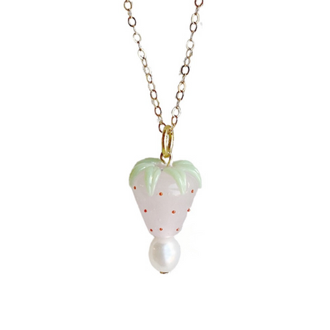 Strawberries and Cream Necklace