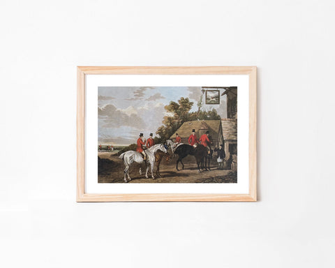 English Hunt Scene Wall Art Print
