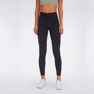 Print Design High Waist Yoga Legging - Full Length