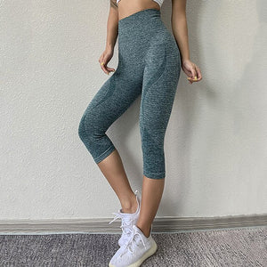 Tights Woman Sports Fitness Yoga Pants / Workout Gym Legging / Capris 3/4 Pants