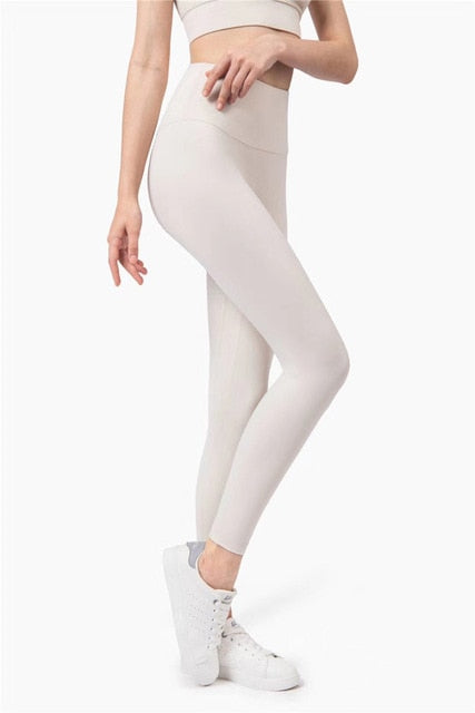 All New Nude Fabric - Yoga Leggings - High Waist / Seamless / Without Curling
