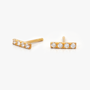 Pavé Line Earrings