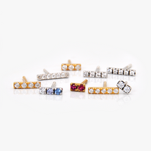 Load image into Gallery viewer, Pavé Line Earrings