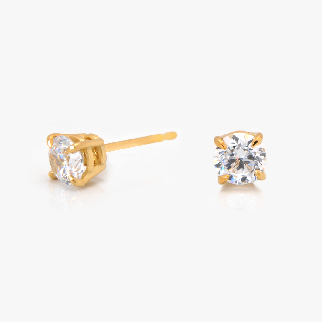 Solitaire Studs — Any Shape