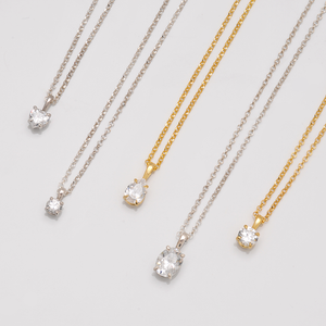 Solitaire Necklace — Any Shape