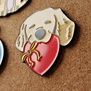 Puppy Love - Enamel Pin with Custom Backing
