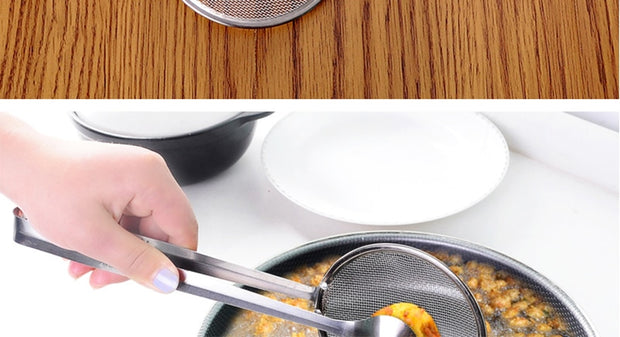 Stainless Steel Filter Spoon With Clip - gadgets4chef