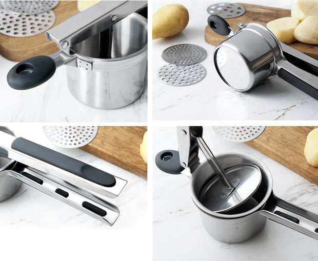 3 in 1 Stainless Potato Ricers - gadgets4chef