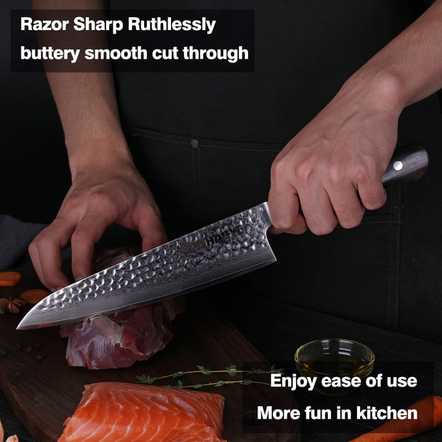 Japanese Damascus Steel Chef Knife - gadgets4chef