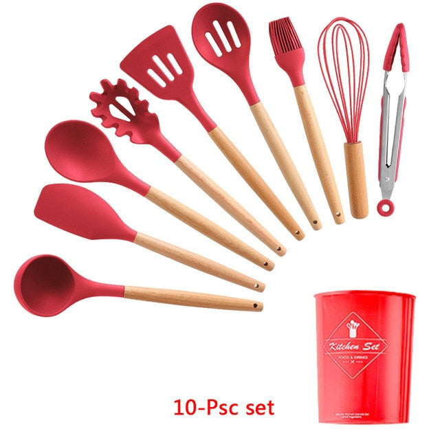 Silicone Cooking Utensils Set - gadgets4chef