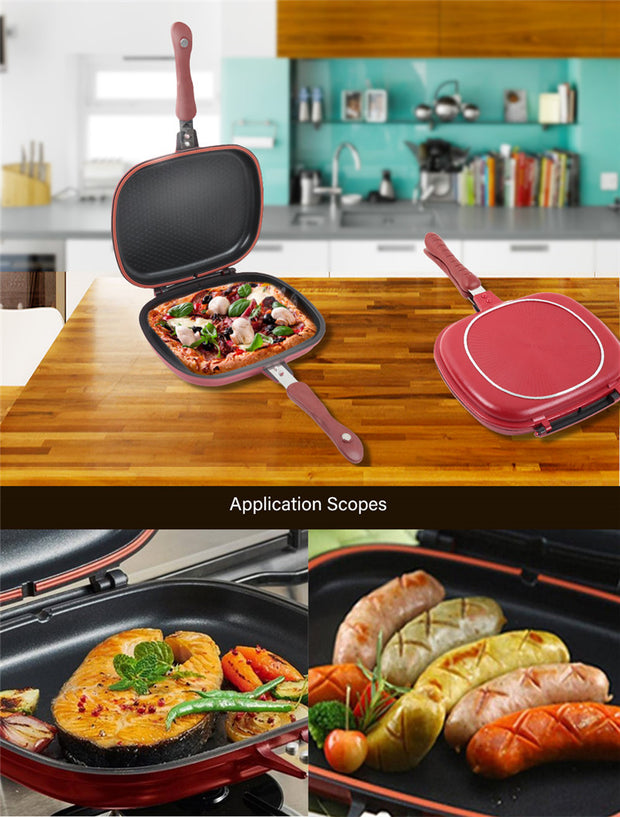 Non-Stick Double Sided Frying Pan - gadgets4chef