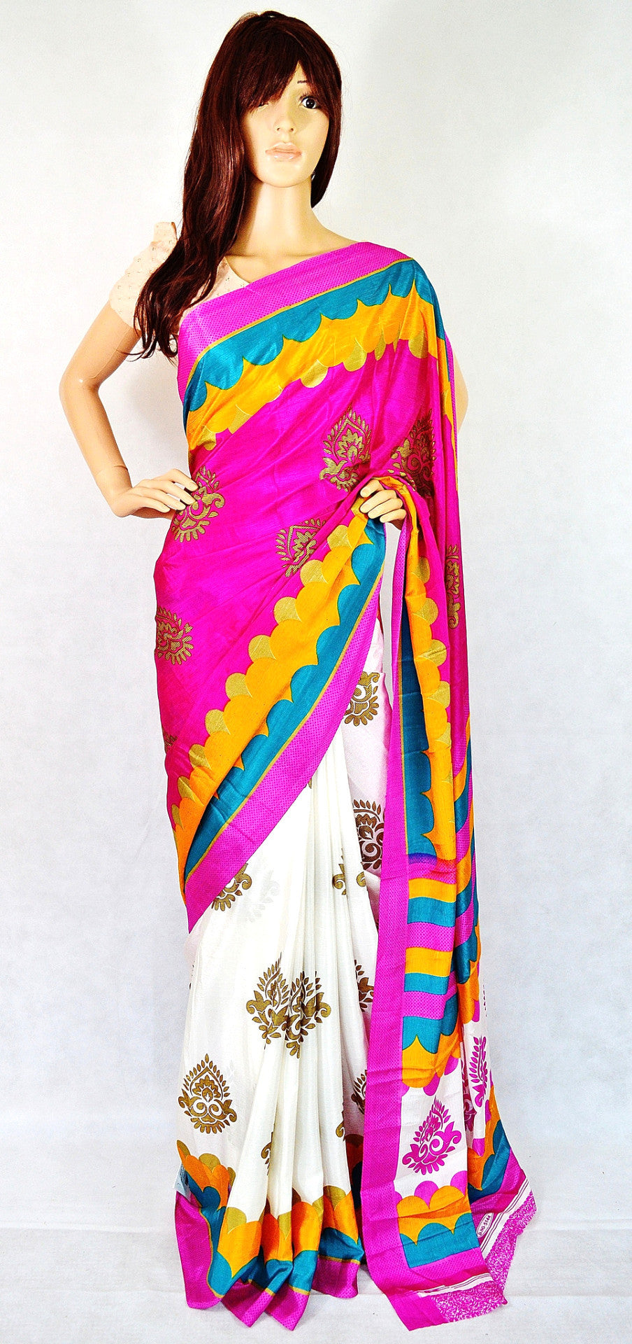 Beautiful Turkey 3 Star Crepe Silk Saree