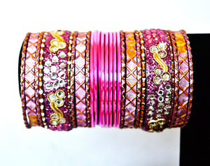 Set Of 26 Indian Bollywood Jewelry Bangles