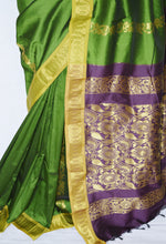 Beautiful Green Colour Anjali Silk Saree