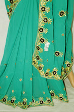 Green Berry  ,Black & Silver Colour Party Wear Saree