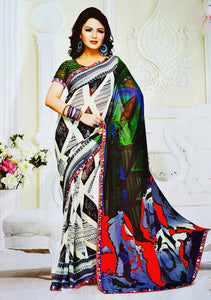 Beautiful Multi Colour Heritage Designer Saree
