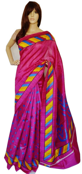 Exclusive Indian  Cotton Mix Silk Saree