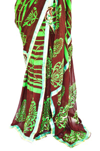 Beautiful Ready Made Pleats Georgette Saree