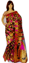Black & magenta Colour Net Beauty Star Saree