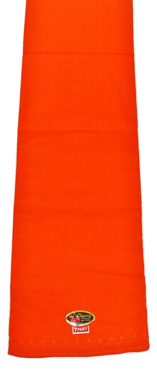 Bright Orange  Cotton Petticoat / Skirt