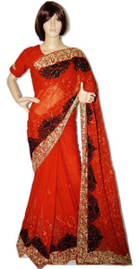 Designer Partywear Saree With Prestitched Blouse