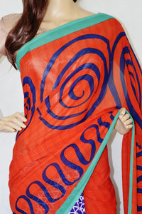 Indian  Half And Half  Designer Saree