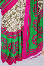 Butter Colour & Magenta Kaangana Fancy Saree