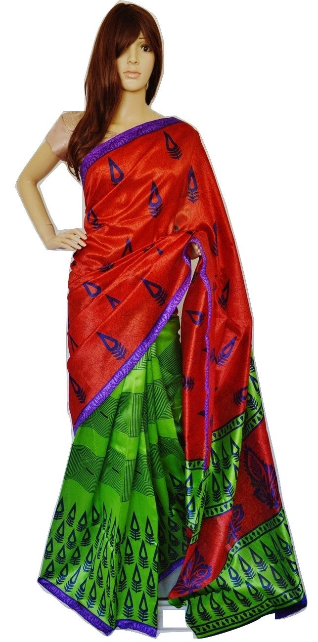 Beautiful Print Work Lichi 3 Star Saree