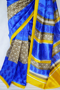 Gorgeous Blue Lichi 3 Star Saree