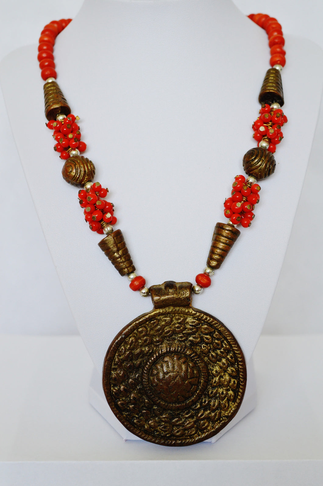Indian Fashion Beautiful  Red Neckless