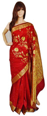Gorgeous Maroon Colour Banaras Silk Saree