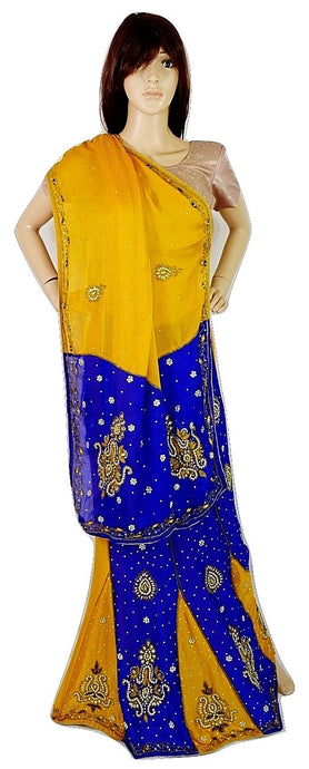 Mango ColourTrendy Butterfly Pallu Lehenga Saree