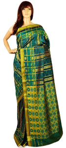 Dark Green & Gold Colour Kanchipuram Silk  Saree
